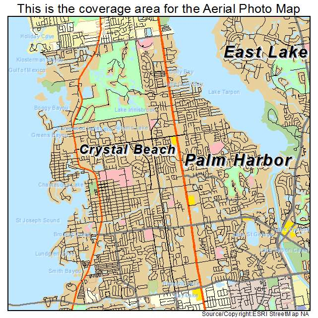 Aerial Photography Map Of Palm Harbor FL Florida