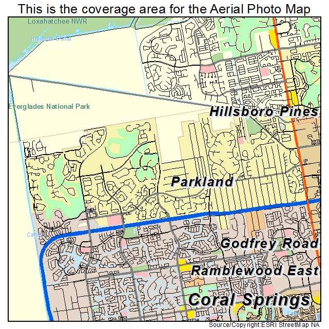 Aerial Photography Map Of Parkland, FL Florida