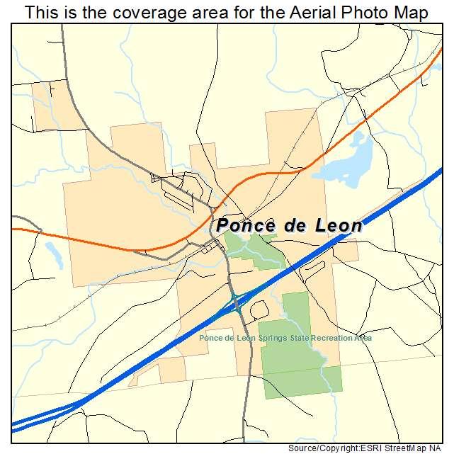 Ponce de Leon, FL location map