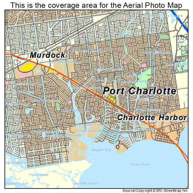 aerial photography map of port charlotte, fl florida wiring a house with hdmi