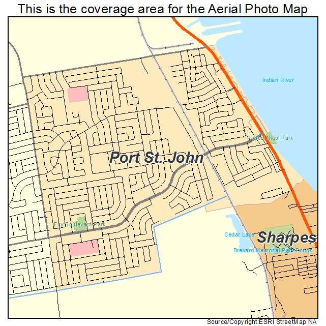 St Johns Florida Map.Aerial Photography Map Of Port St John Fl Florida