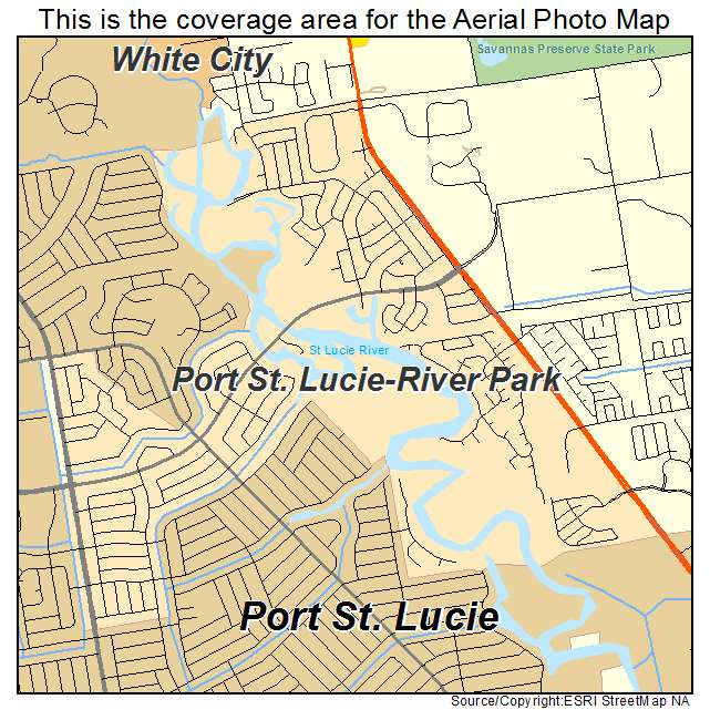 Port St Lucie Florida Map.Aerial Photography Map Of Port St Lucie River Park Fl Florida
