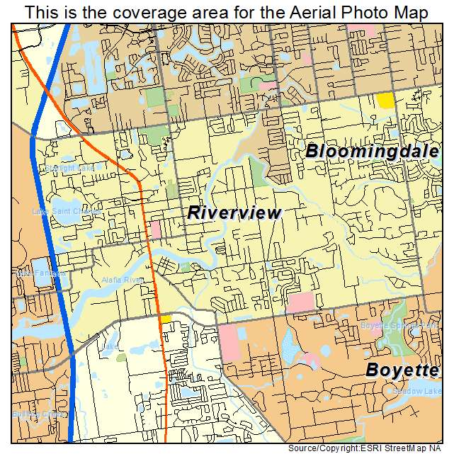 Riverview Florida Map.Aerial Photography Map Of Riverview Fl Florida