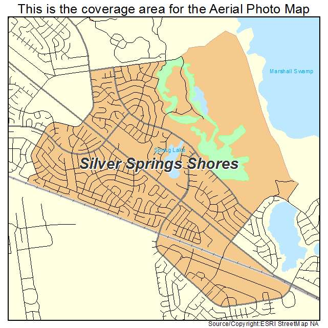 Silver Springs Florida Map.Aerial Photography Map Of Silver Springs Shores Fl Florida