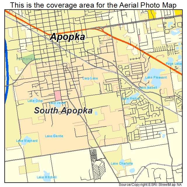 Apopka Florida Map.Aerial Photography Map Of South Apopka Fl Florida