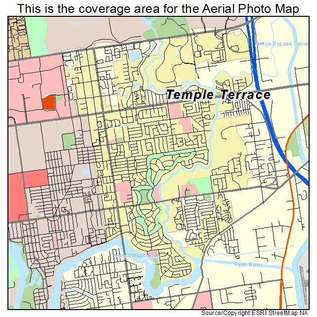 Aerial photography map of temple terrace fl florida for Terrace view map