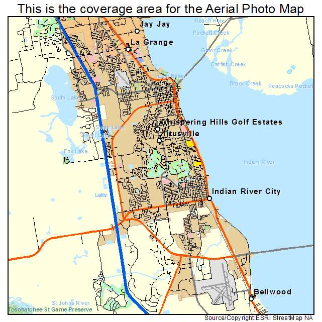 Street Map Of Titusville Florida Aerial Photography Map of Titusville, FL Florida