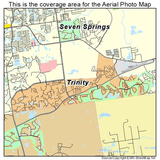 Trinity Florida Map.Aerial Photography Map Of Trinity Fl Florida