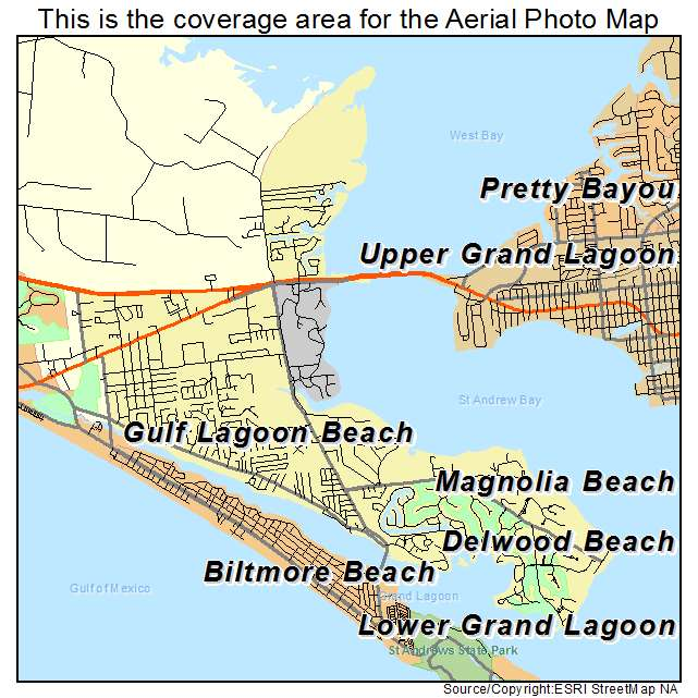 Map Of Upper Florida.Aerial Photography Map Of Upper Grand Lagoon Fl Florida