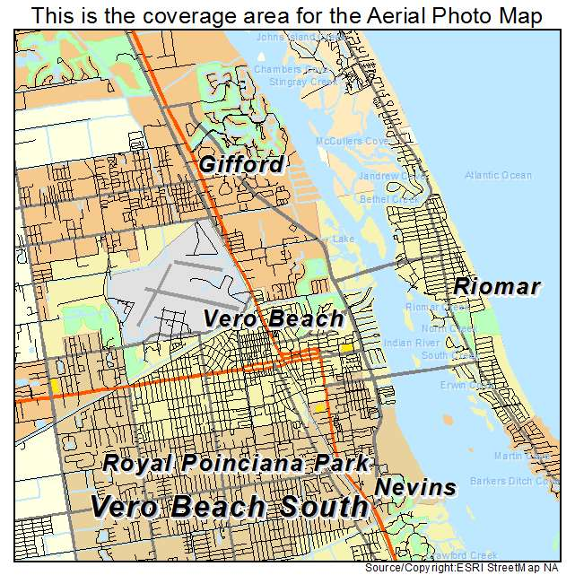 This Vero Beach Florida Aerial Photography Map Picture