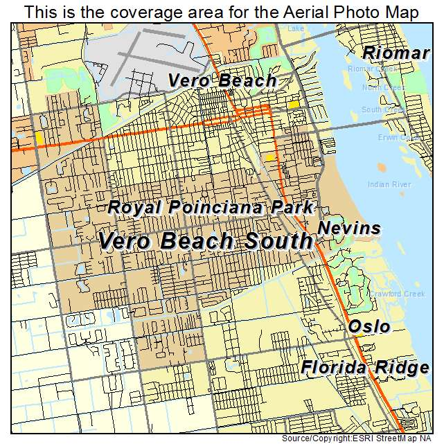 Aerial Photography Map Of Vero Beach South FL Florida