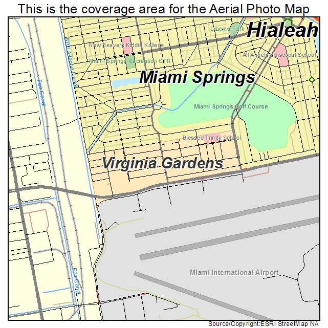 Virginia Gardens, FL Location Map