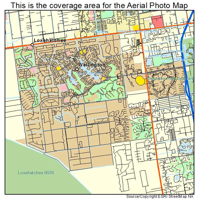 Map Of Wellington Florida.Aerial Photography Map Of Wellington Fl Florida