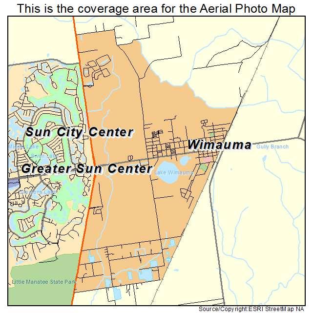 Sun City Florida Map.Aerial Photography Map Of Wimauma Fl Florida