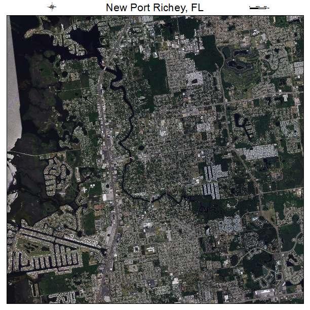 New Port Richey, FL air photo map