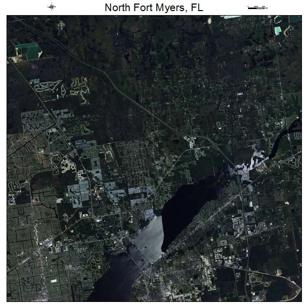 North Fort Myers, FL air photo map