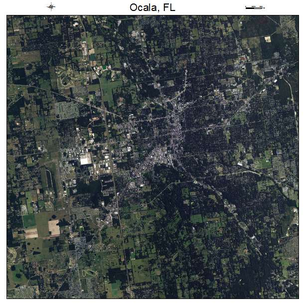 Ocala, FL air photo map