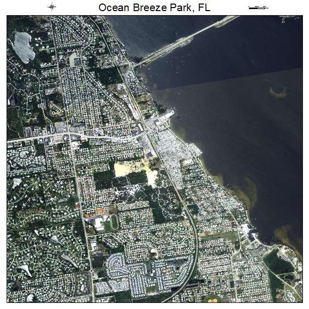 Aerial Photography Map Of Ocean Breeze Park, FL Florida