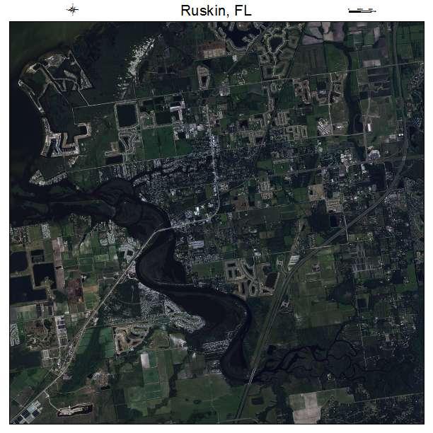 Ruskin, FL air photo map