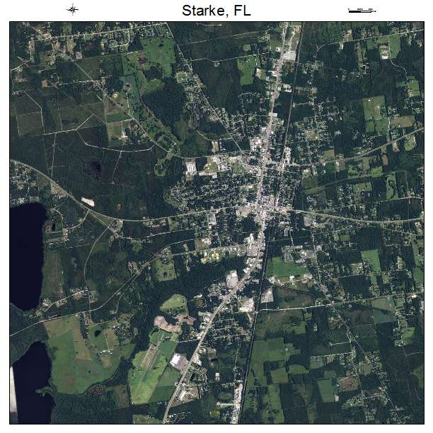 Aerial Photography Map Of Starke Fl Florida