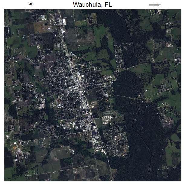 Aerial Photography Map of Wauchula, FL Florida