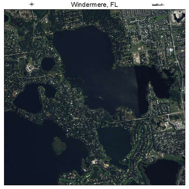 Windemere St: Aerial Photography Map Of Windermere, FL Florida