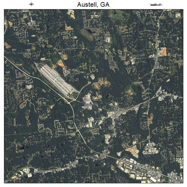 Austell Georgia Map Austell ga Air Photo Map