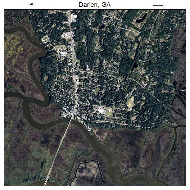 Darien, GA air photo map