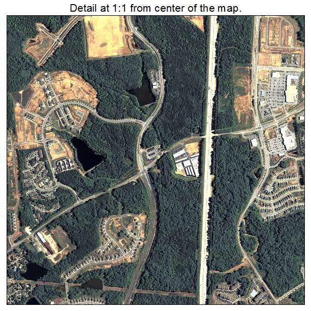 Newnan, Georgia aerial imagery detail