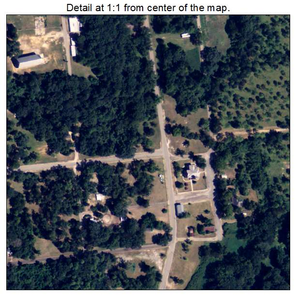 Newton, Georgia aerial imagery detail