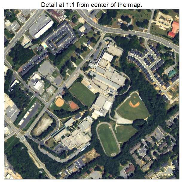Norcross, Georgia aerial imagery detail