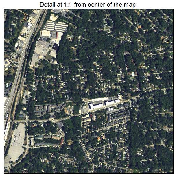 North Atlanta, Georgia aerial imagery detail