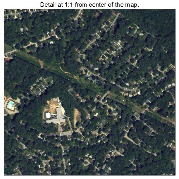 North Decatur, Georgia aerial imagery detail