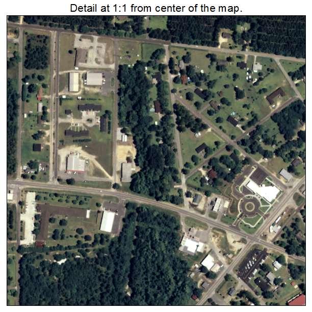 Aerial Photography Map of Twin City GA Georgia