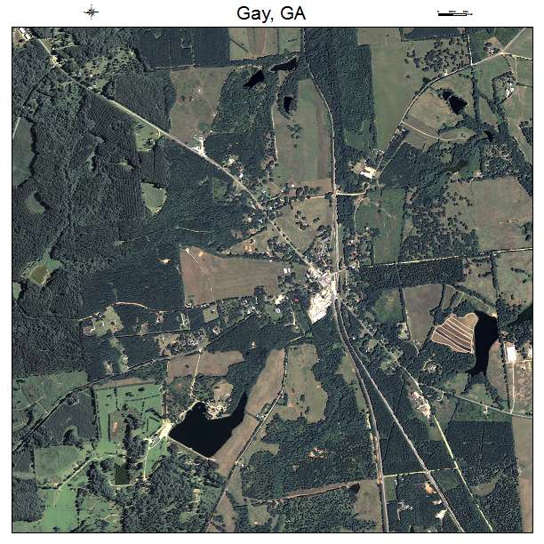 Aerial Photography Map Of Gay Ga Georgia