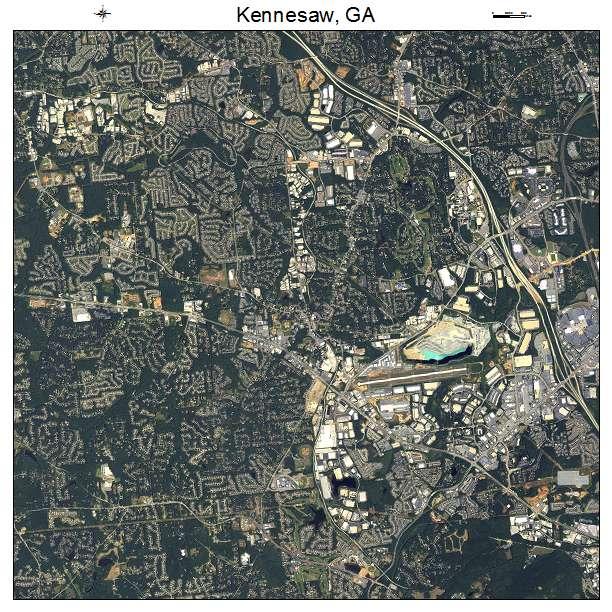 aerial photography map of kennesaw ga georgia. Black Bedroom Furniture Sets. Home Design Ideas