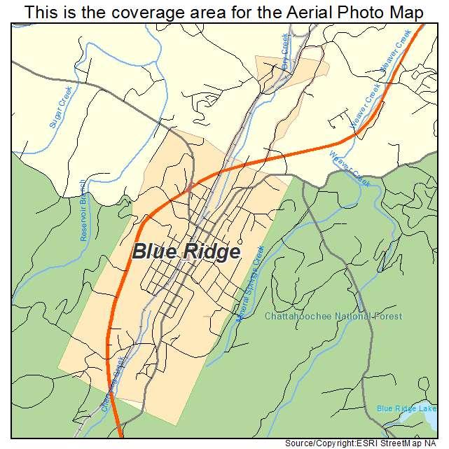 Blue Ridge Georgia Map Afputra Com