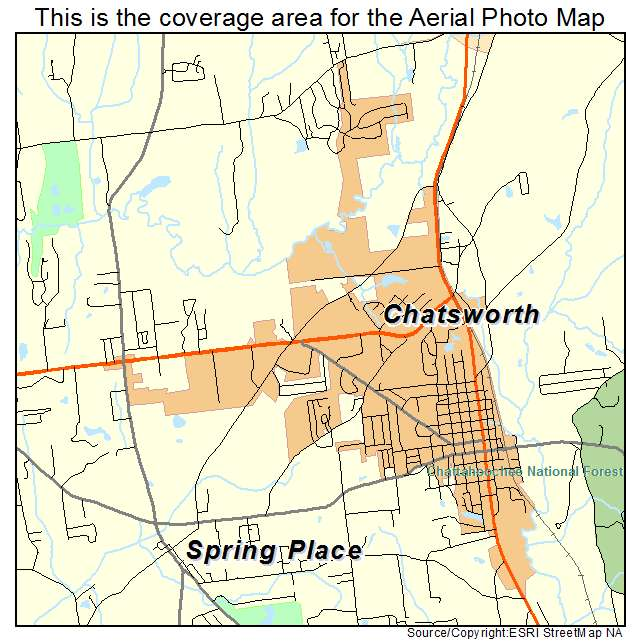 Aerial Photography Map of Chatsworth GA Georgia