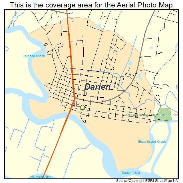 Darien, GA location map