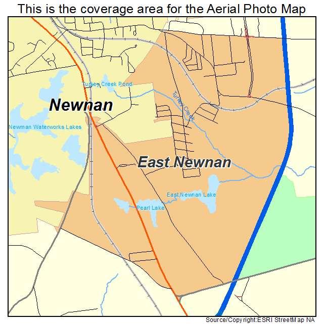 Newnan Georgia Map.Aerial Photography Map Of East Newnan Ga Georgia