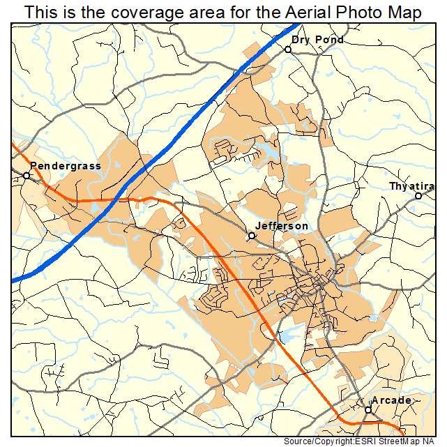 Aerial Photography Map Of Jefferson GA Georgia - Jefferson georgia map