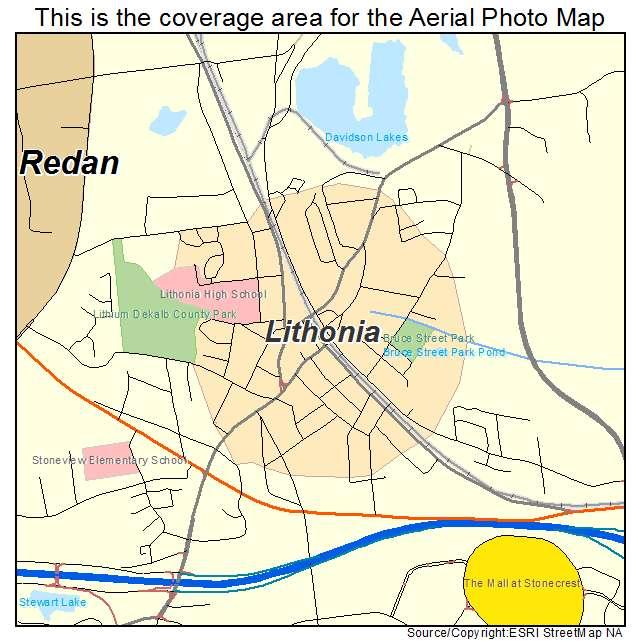 Lithonia, GA Georgia Aerial Photography Map 2015 on atlanta area, map of lithia springs ga, map of san antonio tx and surrounding area, map of athens ga and surrounding area,