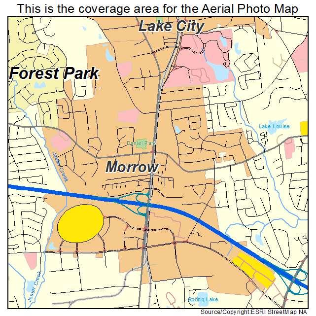 Morrow Ga Georgia Aerial Photography Map 2015