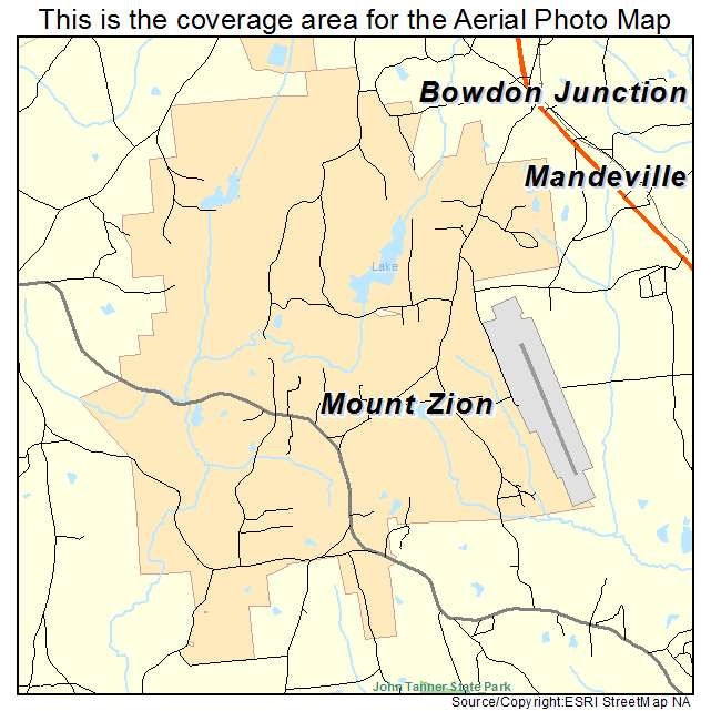 Aerial Photography Map of Mount Zion, GA Georgia