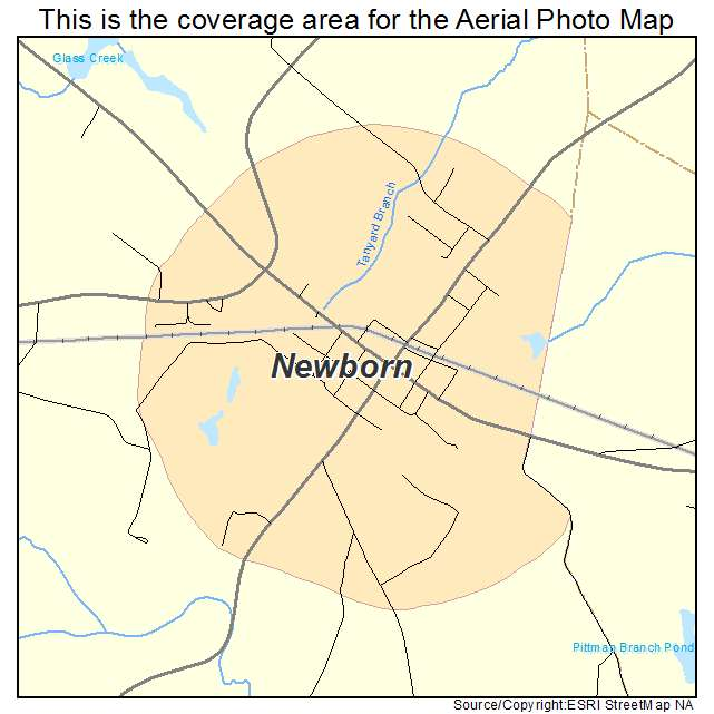 Newborn, GA location map