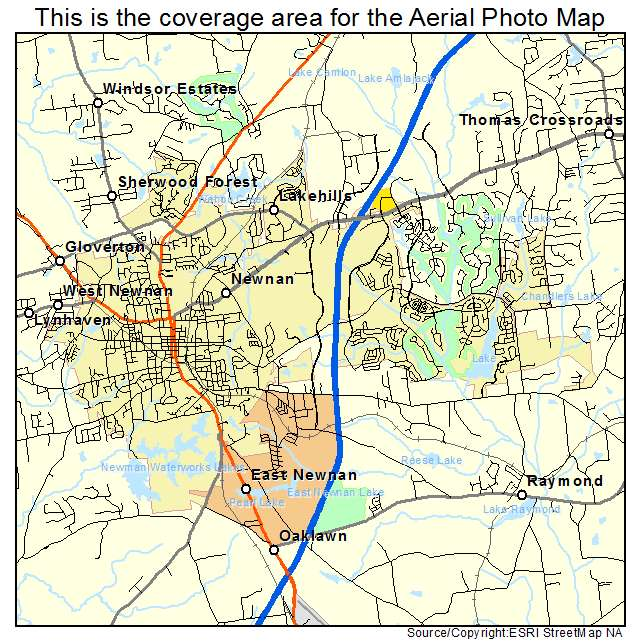 Newnan, GA location map