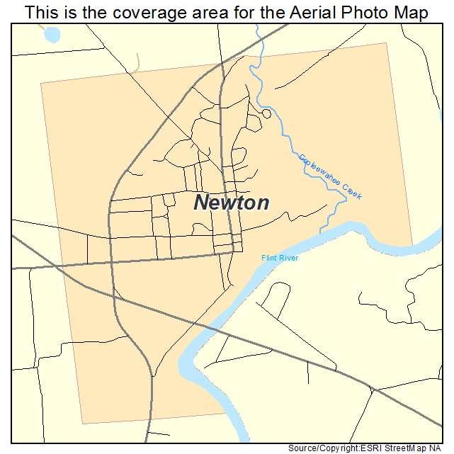 Newton, GA location map