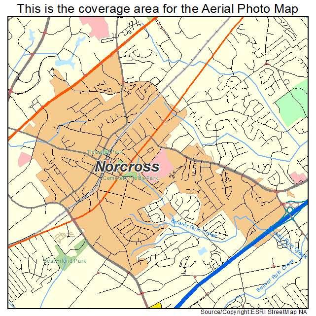 Norcross, GA location map