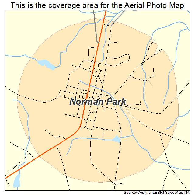 Norman Park, GA location map
