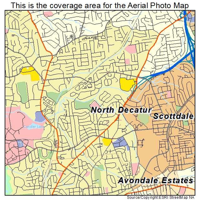North Decatur, GA location map